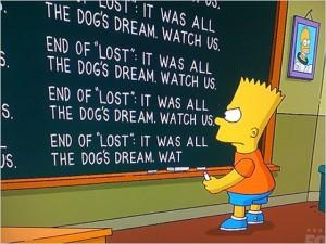 finale di Lost per Bart Simpson